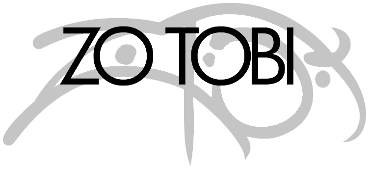 Zo Tobi Logo - Black on Transparent - 750px