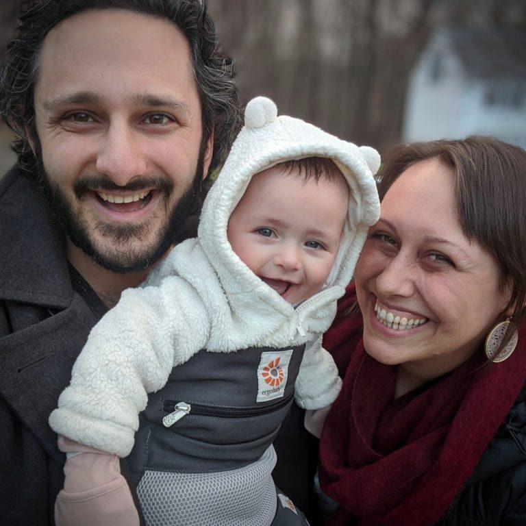 2019-12-31 - Zo, Kelly, & Ayla on Fairlawn Drive walk